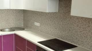 Кухня фото № 46 алюминиевом профиле цвет Белый -  Малиновый. от компании Фаберме - видео