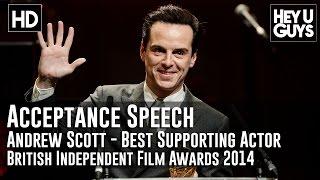 Andrew Scott Wins Best Supporting Actor Award Acceptance Speech - BIFA 2014 (Pride)