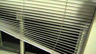 How to drop blinds properly.