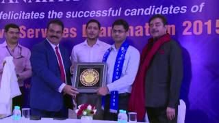 Dr. Nitin Gaur, IAS (AIR 69, CSE 2015) thanked Success Guru AK Mishra for giving shape to his dreams