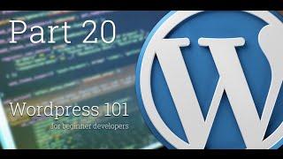 WordPress 101 - Part 20: How to create Custom Taxonomies - Part 1