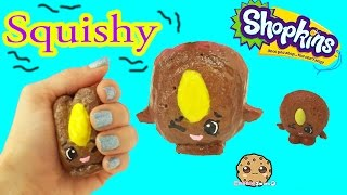 DIY Squishy Cookie Nut Shopkins Season 4 Inspired Easy Craft Do It Yourself - Cookie Swirl C Video