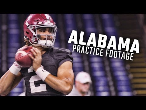 See Jalen Hurts, Alabama players practice for CFP semifinal against Clemson