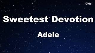 Sweetest Devotion Adele - Karaoke 【With Guide Melody】