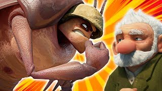 GRAMPS VS ROACHES | Insectibles Animated Series | Cartoon for Children by Oddbods & Friends