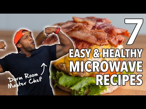 Video College Dorm MasterChef - 7 Easy, Healthy Microwave Recipes  / 7 Recetas Cocinadas en el Microondas