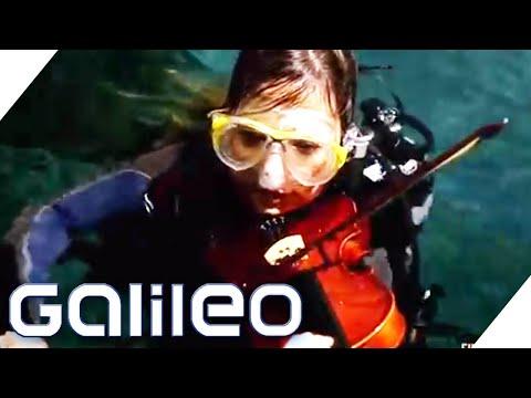Lässt sich eine Geige unter Wasser spielen? | Finde den Lügner | Galileo | ProSieben