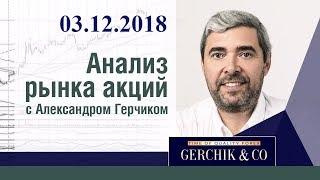 Анализ акций 03.12.2018 ✦ Фондовый рынок США и ЕВРОПЫ ✦ Лучший анализ Александра Герчика