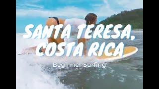 Surfing (Beginner) Santa Teresa, Costa Rica | Travel Vlog