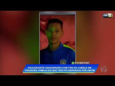 Adolescente é assassinado com tiro na cabeça; Familiares dizem que tiro foi disparado de um policial