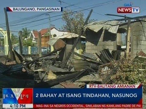 BP: 2 bahay at 1 tindahan sa Pangasinan, nasunog