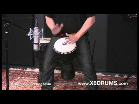 Meinl Percussion 10″ Black River Djembe Drum Demonstration – X8 DRUMS