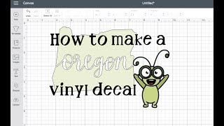 How To Make A Vinyl Decal Sticker In Cricut Design Space For Beginners Tutorial