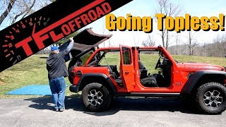 Which Roof Option is Best for a Jeep? - I Remove a New Wrangler's Top and Doors to Find the Answer