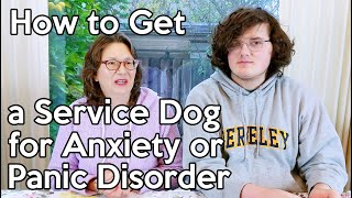 How to Get a Service Dog for Anxiety or Panic Disorder