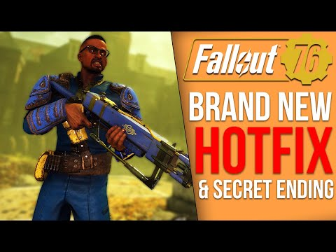 Fallout 76 News - Hotfix Update, Secret Ending Conclusion, Datamined Items