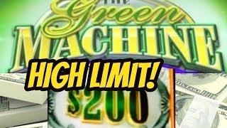 HIGH LIMIT-FIRST SPIN BONUS ON GREEN MONEY MACHINE DELUXE