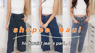HIGHWAIST CULLOTE JEANS SHOPEE HAUL + Try On ✨ MULAI 70.000an!!😳 Indonesia