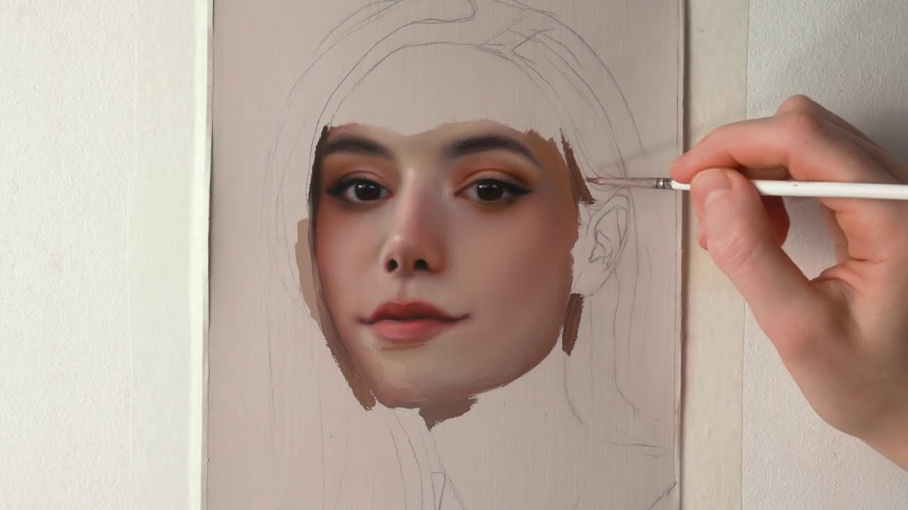oil painting time lapse tutorial by daria callie
