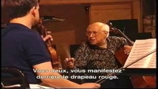 Rostropovich, Zimmermann, Cascioli rehearsing Shostakovich_Part 1 of 2