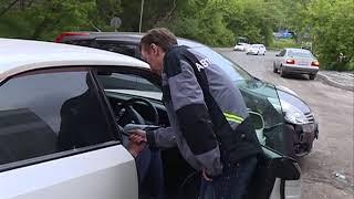 Странные маневры водителя спровоцировали ДТП на улице Минеров
