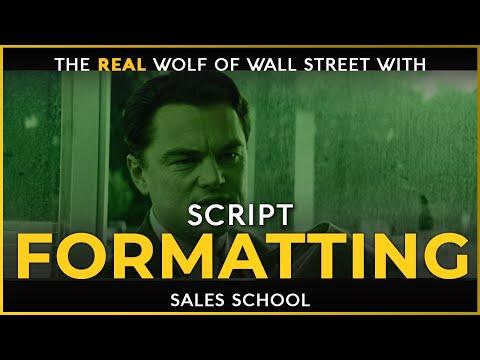 Script Formatting   Free Sales Training Program   Sales School ...