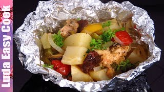 УЖИН БЫСТРО И ВКУСНО ИЗ КАРТОШКИ И МЯСА. Все попросят еще! | TASTY Baked Potato And Chicken recipe