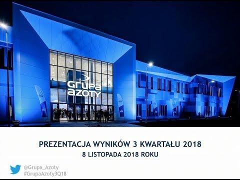 Grupa Azoty prezentuje wyniki za 3Q2018 roku - zdjęcie