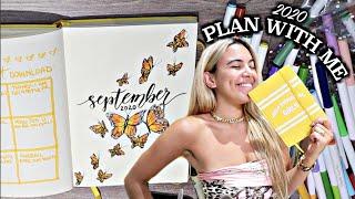 PLAN WITH ME! ✏️📅 | September 2020 Bullet Journal Setup (Butterfly themed)