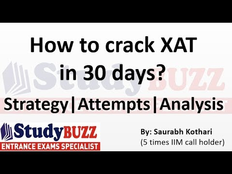 How to crack XAT exam in 30 days?