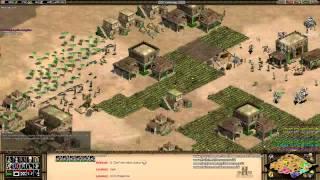 Aoe2 HD: 4v4 Arabia (Byzantines Pocket, Knight Rush)