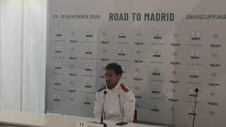 Conferenza stampa Fabio Fognini, Coppa Davis (Fognini-Duckhee Lee)