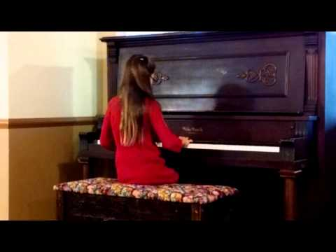 One of my students playing at a Christmas Recital 2014