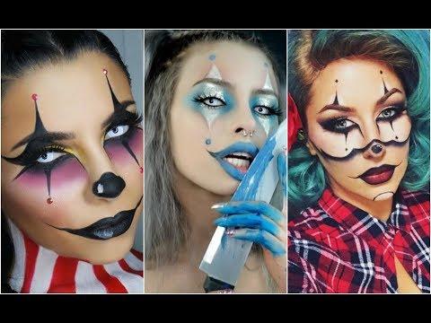 ARLEQUÍN MALVADA | CREEPY HARLEQUIN 🃏TOP INCREÍBLES MAQUILLAJES 🃏🃏 Best Halloween Makeup