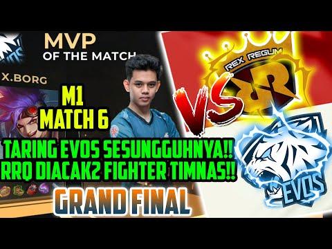 OURA MENGAMUK!! RRQ DIACAK2 FIGHTER TIMNAS!! MATCH 6 M1 WORLD CHAMPIONSHIP -Mobile Legends