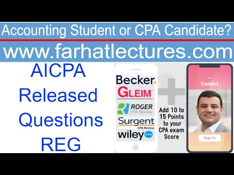 CPA AICPA released Questions.Regulations - YouTube