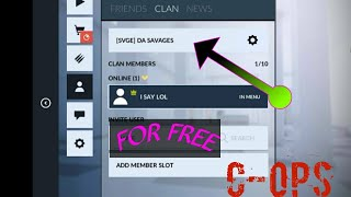 JOIN a clan in critical ops for free