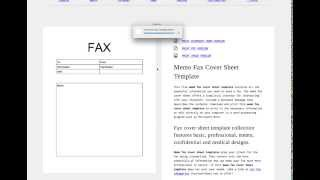 Customize Fax Cover Sheet Template Tutorial