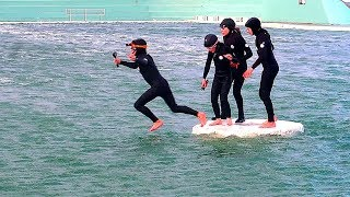 KIDS TRAPPED ON SECRET ISLAND by  GAME MASTER IN OCEAN SECRET BATHS