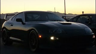 Supra saved from cop by idiot driver (hilarious soundtrack)
