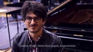 Matan Porat meghívója a Concerto Budapesttel közös koncertre