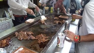 Japanese Street Food - Grilled Hormones in Osaka Japan