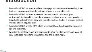 Promotional SMS Service Provider