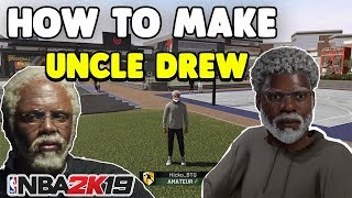 HOW TO MAKE UNCLE DREW IN NBA 2K19🔥(MYPLAYER TUTORIAL)