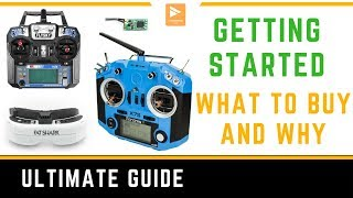 Getting Started in FPV Racing Drone // List of What to Buy Transmitters & Goggles // Flysky & FrSky