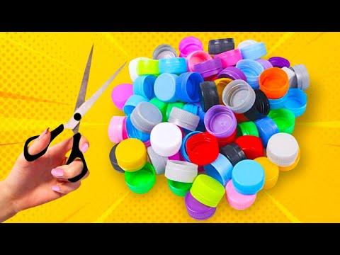 7 ideias com tampinhas