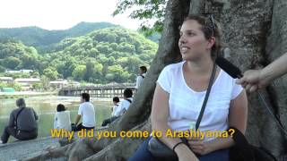 Travelers' Voice of Kyoto:ARASHIYAMA Area Interview 001