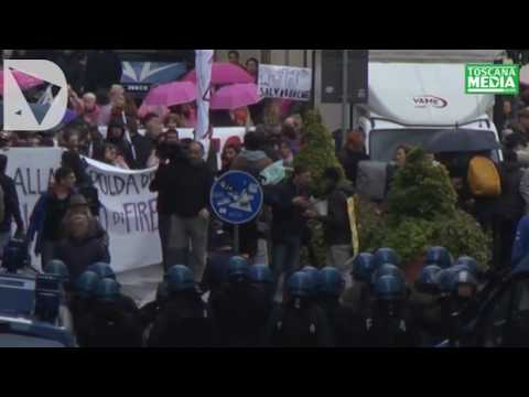 MANIFESTAZIONE FIRENZE DICE NO - video