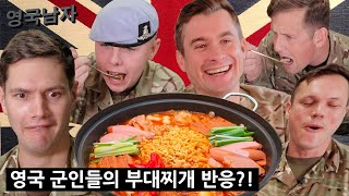 British Soldier Try KOREAN ARMY STEW for the First Time!!?