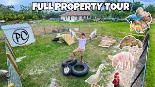 PAUL CUFFARO FULL PROPERTY TOUR!! (All My Animals)
